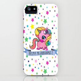 BELIVE IN UNICORNS iPhone Case