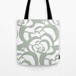 Sage Green Floral Flower Clouds Tote Bag