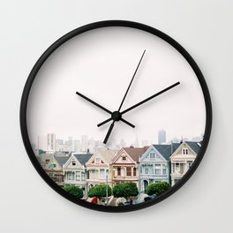 San Francisco Painted Ladies Wall Clock