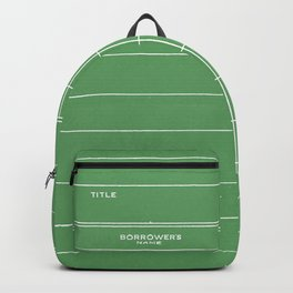 Library Card BSS 28 Negative Green Backpack