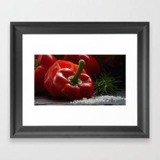Peppers for biting Framed Art Print
