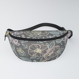 chalkboard florals Fanny Pack
