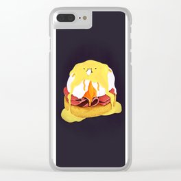 Egg Benedict Clear iPhone Case