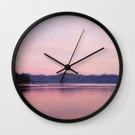 Rose Colored Dream of Lake Tahoe Wall Clock