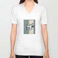 physics V-neck T-shirts featuring PHYSICS! by Merzka
