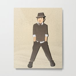 Boys formal wear tan Metal Print