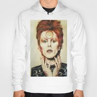 david bowie Hoodies featuring Bowie by Taylor Bellah