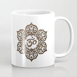 Aged Stone Lotus Flower Yoga Om Coffee Mug