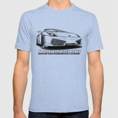 Lamborghini line drawing Mens Fitted Tee Tri-Blue X-LARGE