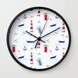 Nautical Pattern Wall Clock