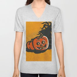 Halloween Grin Unisex V-Neck