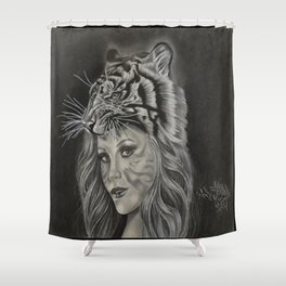 Tiger Girl Shower Curtain