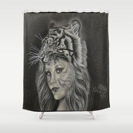 Tiger Girl Shower Curtain