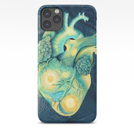 Anatomical Human Heart - Starry Night Inspired iPhone Case