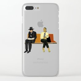 Subway Riders Clear iPhone Case