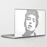 bob dylan Laptop & iPad Skins featuring Bob Dylan by S. L. Fina