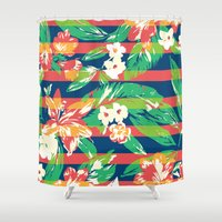 tropical Shower Curtains featuring Tropical by Steven Toang