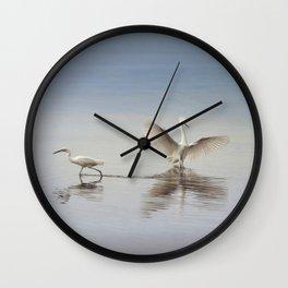 Egret Wings Wall Clock