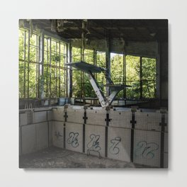 Chernobyl Diving Board Metal Print