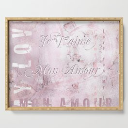 Je t'aime mon Amour Serving Tray