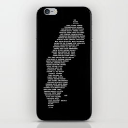 Cities in Sweden - black iPhone Skin