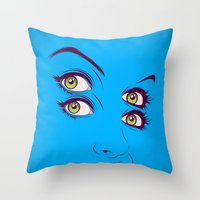 randy c Throw Pillows featuring C. by CranioDsgn
