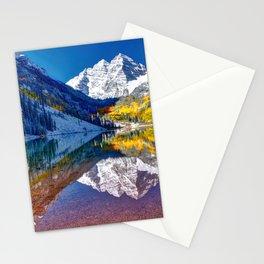 Fall Season at Maroon Bells Panorama Stationery Cards