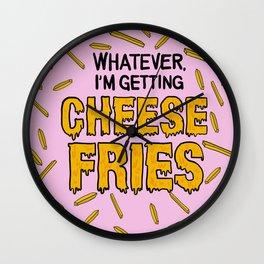 Cheese Fries Wall Clock