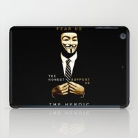 anonymous iPad Cases featuring anonymous by Adam Cieslik