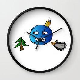 Evil Christmas series Christmas tree toy Wall Clock