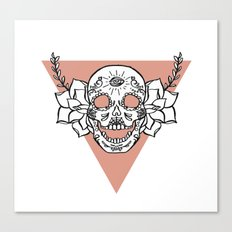 candy skull Canvas Print