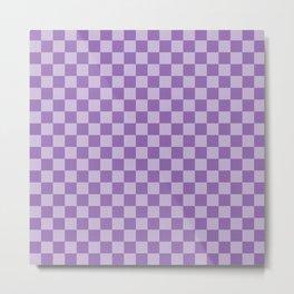 Amethyst Checkerboard Metal Print