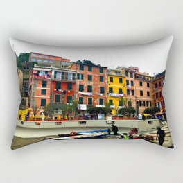 Cinque Terre, Italy Harbor in Riomaggiore/Vernazza Rectangular Pillow