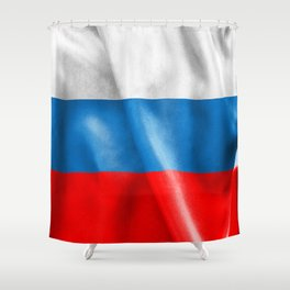 Russian Federation Flag Shower Curtain