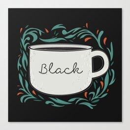 Black as my soul Canvas Print