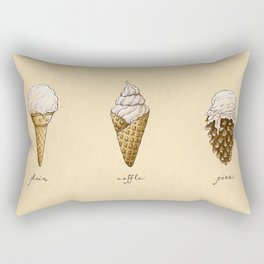 Ice Cream Cones Rectangular Pillow