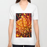 candy V-neck T-shirts featuring Candy by Stephen Linhart