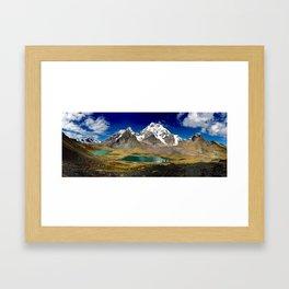 Ausangate Peru Mountains Framed Art Print