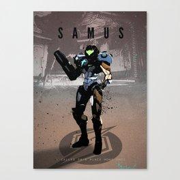 Legends of Gaming - Samus Canvas Print