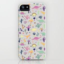 Dinosaur Desert iPhone Case