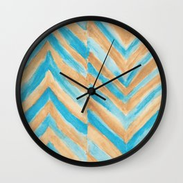 Beach Chevron Wall Clock
