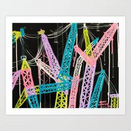 New York Cranes Art Print