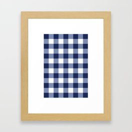 Gingham Framed Art Print