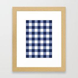 Gingham Framed Art Print