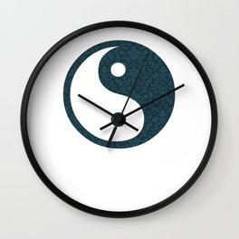 horloge motif 1 yin yang Wall Clock
