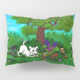 Easter - Spring-awakening - Puppy Capo and Butterfly Pillow Sham
