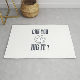 Can You Dig It Volleyball Rug