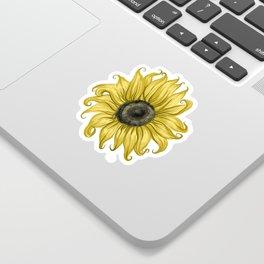Sunflower Smiles Sticker