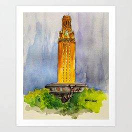 UT Tower - Shines to welcome new students to campus Art Print