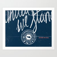 kentucky Art Prints featuring Kentucky by Nate Utesch